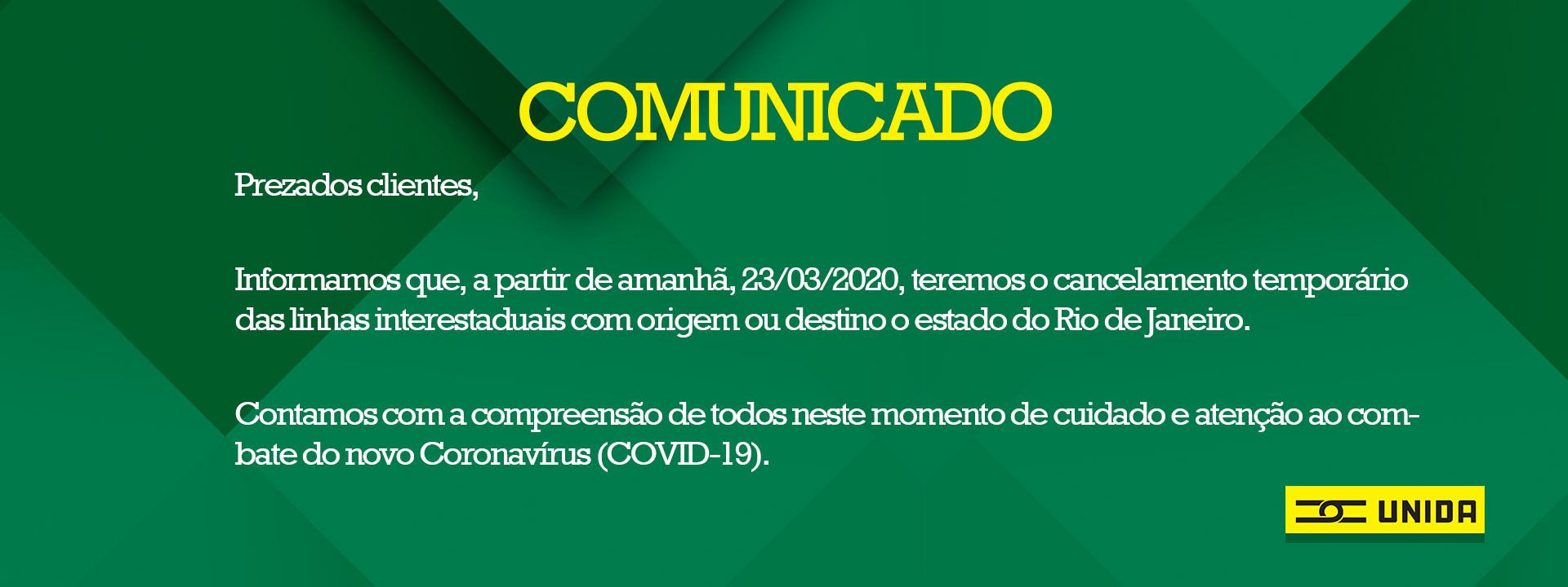 Comunicado linhas RJ
